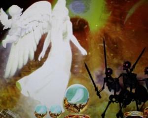 CRミリオンゴッドディセント 天使群ステップアップ予告